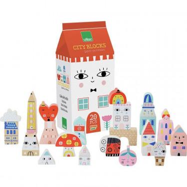 "Cubes de la ville ""Tiny City"" de Suzy Ultman VILAC 8902"