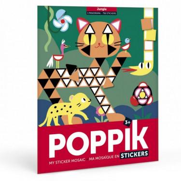 """Poster mosaïque avec des gommettes """"Jungle"""" Poppik"""