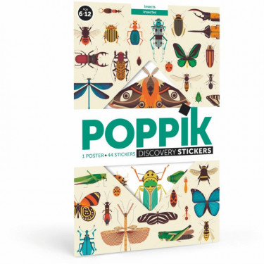 "Poster en stickers ""Insectes"" Poppik"