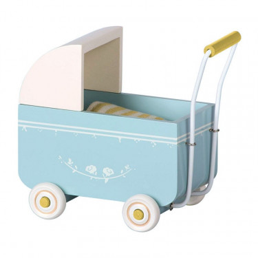 Landau bleu pour bébé souris Maileg