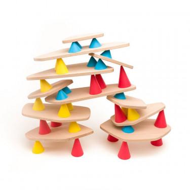 PIKS jeu de construction et d'équilibre - OPPI medium kit 44 pièces