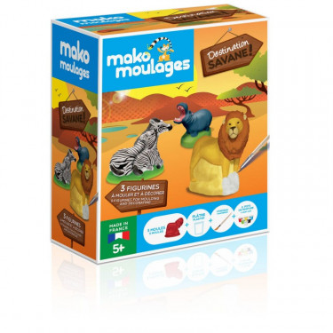 Mako Moulages Animaux de la savane, coffret 3 moules 39059