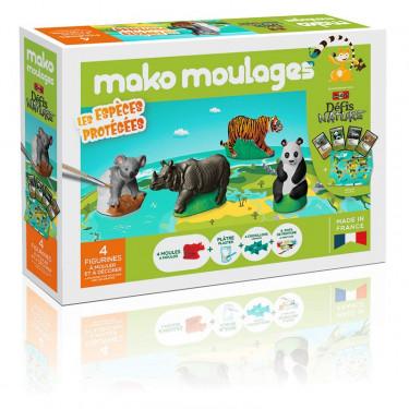 """Mako Moulages """"Espèces protégées"""", coffret 4 moules 39061"""