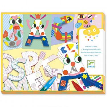 """Lettres à créer """"Un monde à créer, lettres"""" DJECO 8998"""