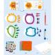 """Collages pour enfant """"Déchirer et coller"""" DJECO 9875"""