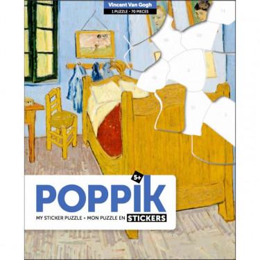 "Puzzle de 70 stickers ""La chambre de Vincent van Gogh"" Poppik"