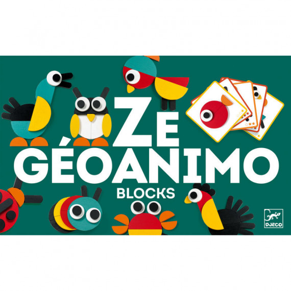 Ze Geoanimo, blocs en bois DJECO 6432