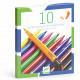 10 feutres pinceaux couleurs classiques DJECO DJO 8800