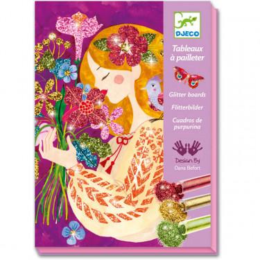Le parfum des fleurs, Tableaux à pailleter DJECO 9508