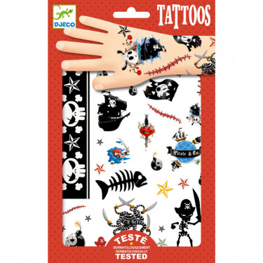 Tatouages Pirates DJECO 9584