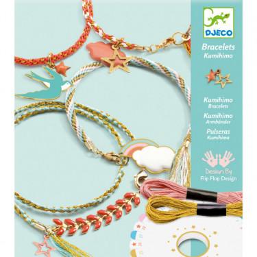 Bijoux à créer 'Bracelets kumihimo' Céleste DJECO 9818