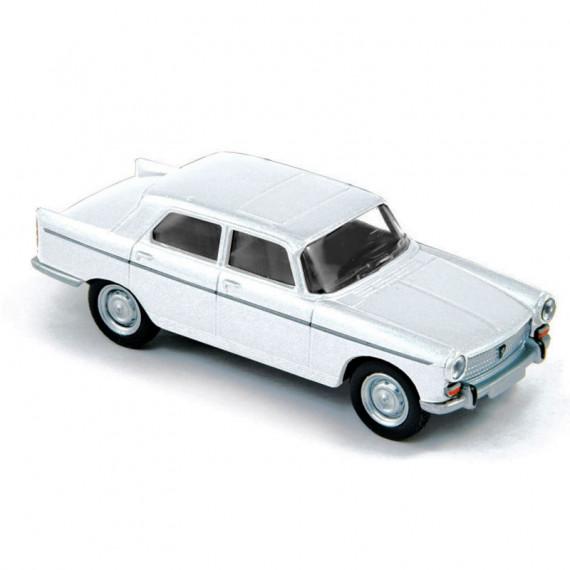 Peugeot 404 1961 blanc Courchevel Norev