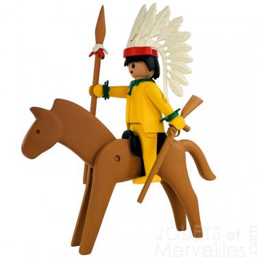 Le chef indien et son cheval Playmobil Collectoys Plastoy