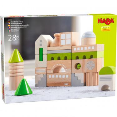 """Blocs de construction en bois """"Cobourg"""" HABA 305456"""