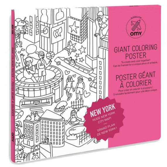 Poster de New York à colorier, Omy