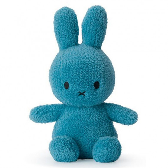 Peluche Miffy lapin extra-doux bleu océan 23cm
