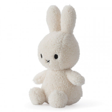 Peluche Miffy lapin extra-doux blanc crème 23cm