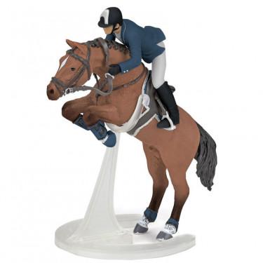 Cheval de saut d'obstacles et son cavalier PAPO 51562