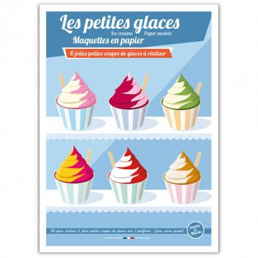 Les petites glaces, maquettes en papier 'Sophie et Martin'
