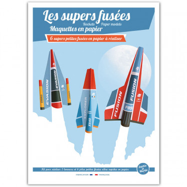Les supers fusées, maquettes en papier 'Sophie et Martin'
