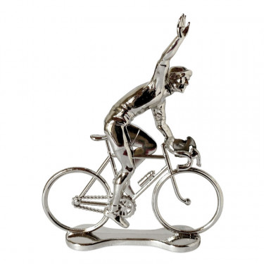 Figurine cycliste winner argent _ Bernard & Eddy