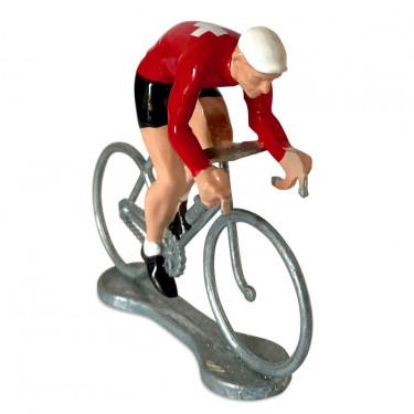 Figurine cycliste sprinteur Suisse _ Bernard & Eddy