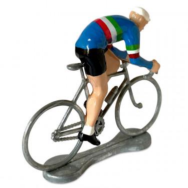 Figurine cycliste sprinteur Italie _ Bernard & Eddy