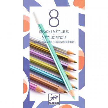 8 crayons de couleur métallisés DJECO 9753