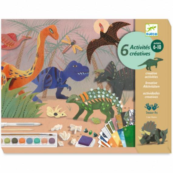 Dino Box Coffret d'activités créatives pour enfant DJECO 9331