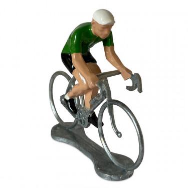 Figurine cycliste maillot Brésil _ Bernard & Eddy