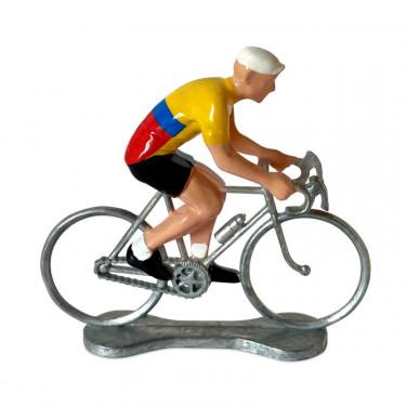Figurine cycliste maillot Colombie _ Bernard & Eddy