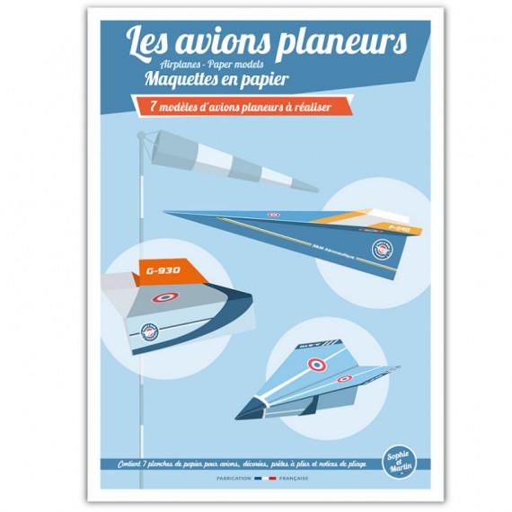 Les avions planeurs, maquettes en papier 'Sophie et Martin'