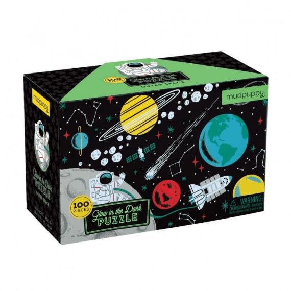 Puzzle qui Brille dans le Noir 'Cosmos' 100 pcs Mudpuppy