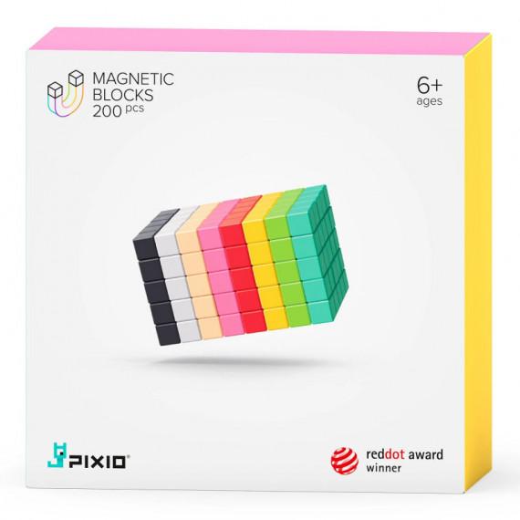 PIXIO-200 Jeu de construction avec des pixels 3D magnétiques - 200 cubes