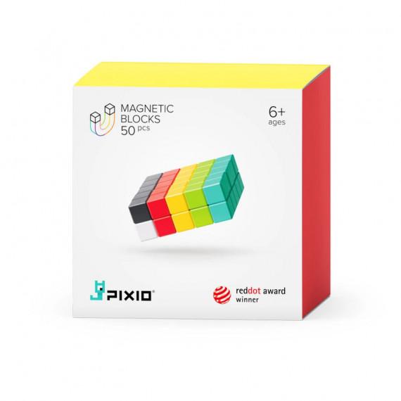 PIXIO-50 Jeu de construction avec des pixels 3D magnétiques - 50 cubes