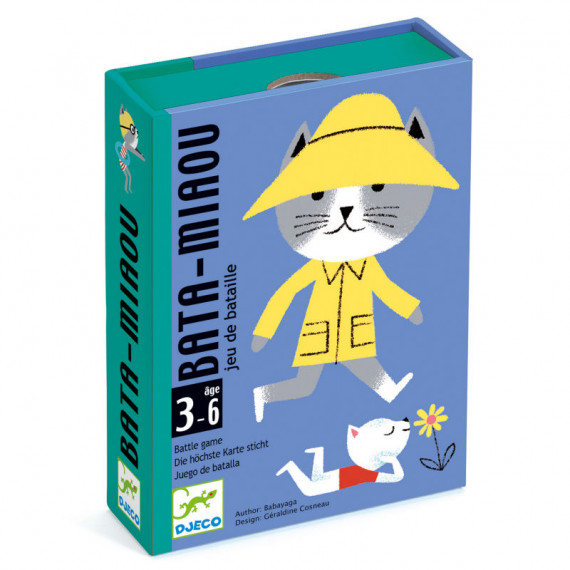 Bata-Miaou, jeu de cartes DJECO 5139