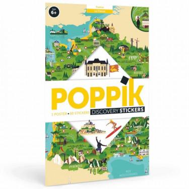 """Poster en stickers """"La France"""" Poppik"""