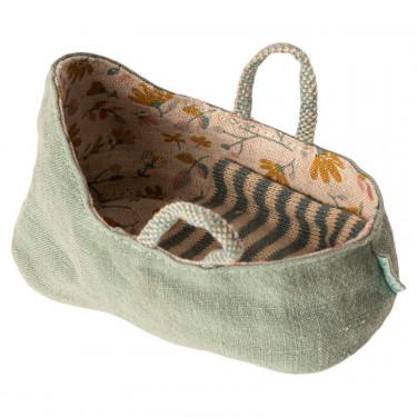 Couffin pour bébé Maileg - vert céladon
