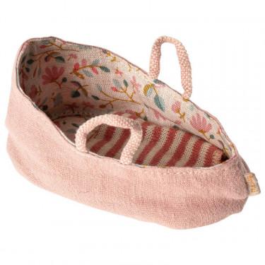 Couffin pour bébé Maileg - rose poudré
