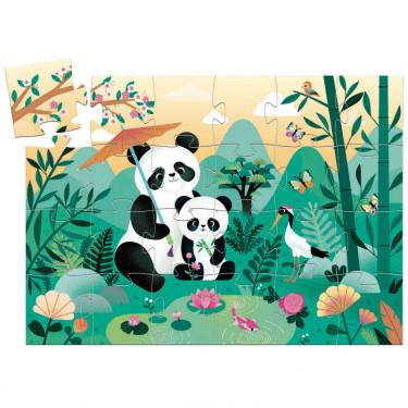 Léo le panda, puzzle 24 pcs silhouette DJECO 7282