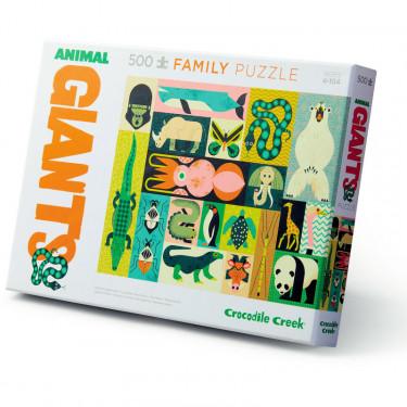 Puzzle famille 'Les géants des animaux' 500 pcs CROCODILE CREEK