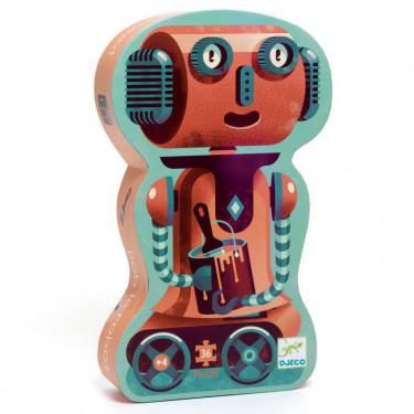 Bob le robot, puzzle 36 pcs silhouette DJECO 7239