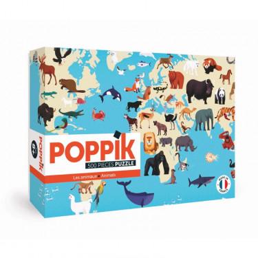 """Puzzle 500 pièces """"Animaux du monde"""" POPPIK"""