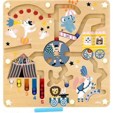 """Jeu de labyrinthe à billes magnétique """"Cirque"""" Michelle Carlslund VILAC 8522"""