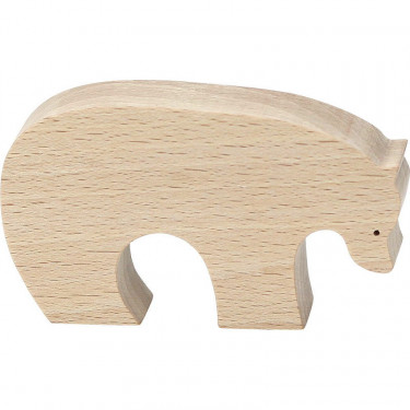 """Figurine d'animal en bois """"Ours brun"""" de Pompon, VILAC 9103E"""