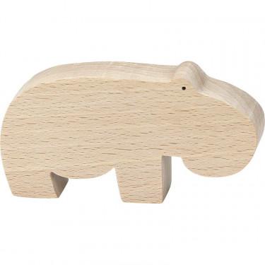 """Figurine d'animal en bois """"Hippopotame"""" de Pompon, VILAC 9103D"""