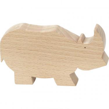 "Figurine d'animal en bois ""Rhinocéros"" de Pompon, VILAC 9103B"