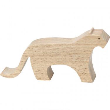"""Figurine d'animal en bois """"Panthère"""" de Pompon, VILAC 9103C"""