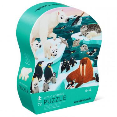 Animaux de l'Arctique, puzzle 72 pcs silhouette CROCODILE CREEK