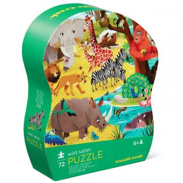 Safari sauvage, puzzle 72 pcs silhouette CROCODILE CREEK